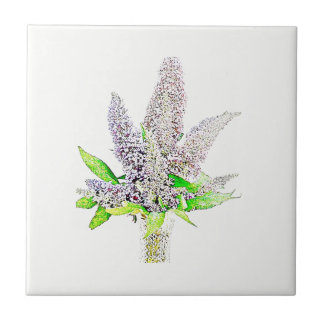 Beautiful buddleia tile