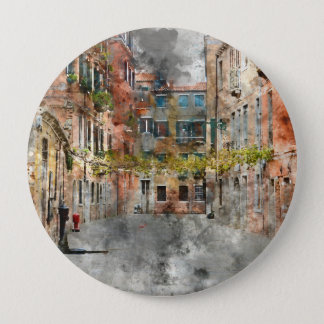 Beautiful Buildings in Venice Italy 10 Cm Round Badge