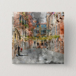 Beautiful Buildings in Venice Italy 15 Cm Square Badge