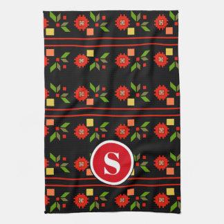 Beautiful Bulgarian Folk Art Tea Towel