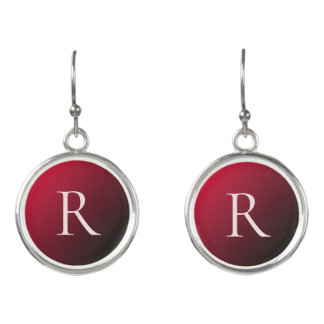 Beautiful Burgundy Ombre Earrings
