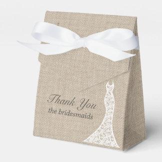 Beautiful Burlap Bridal Shower Favor Box