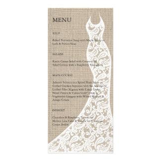 Beautiful Burlap Bridal Shower Menu Full Color Rack Card