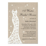 Beautiful Burlap Winter Bridal Shower Invitation