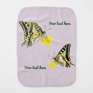 Beautiful Butterflies and Flowers Baby Burp Cloths