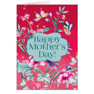 Beautiful Butterflies and Flowers | Mother's Day Card