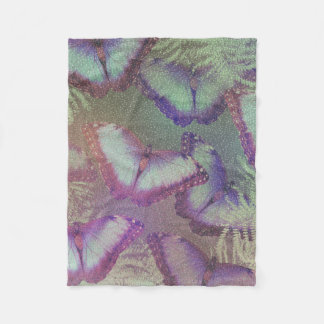 Beautiful butterflies fleece blanket