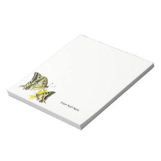 Beautiful Butterflies on Yellow Flowers Notepad