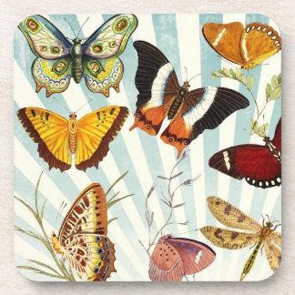 Beautiful Butterflies Pattern Nature Coasters