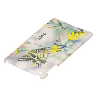 Beautiful Butterfly and Small Yellow Flowers iPad Mini Case