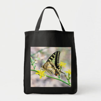 Beautiful Butterfly and Yellow Flowers Tote Bag