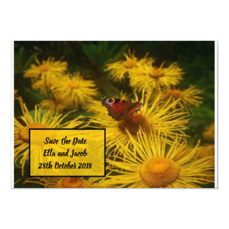Beautiful Butterfly Save the Dates with Text Box Card