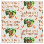 BEAUTIFUL BUTTERFLY TEACHERS PRAYER DESIGN FABRIC