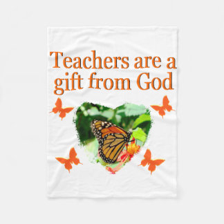 BEAUTIFUL BUTTERFLY TEACHERS PRAYER DESIGN FLEECE BLANKET