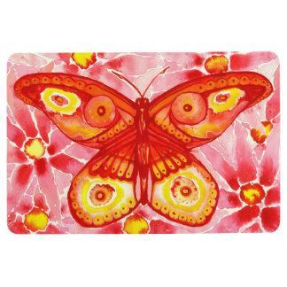 Beautiful Butterfly Watercolour Floor Mat