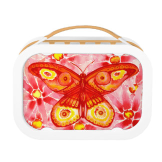 Beautiful Butterfly Watercolour Lunch Box