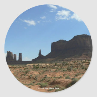Beautiful Buttes Classic Round Sticker