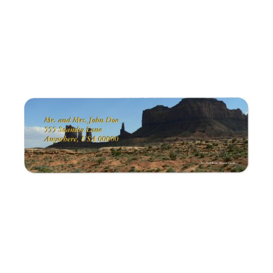 Beautiful Buttes Return Address Label