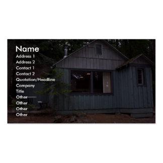 Beautiful Cabin Near Lake Idaho Business Card Template