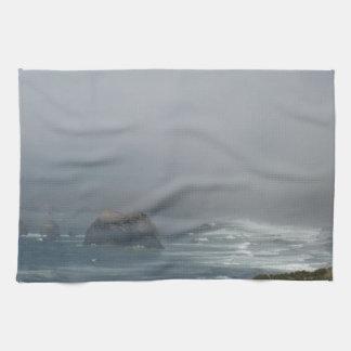 Beautiful California Coast Scenery by the Ocean Kitchen Towel