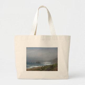 Beautiful California Coast Scenery by the Ocean Large Tote Bag