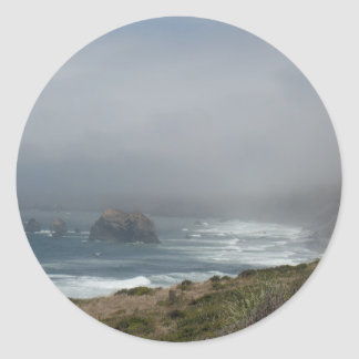 Beautiful California Coast Scenery by the Ocean Round Sticker
