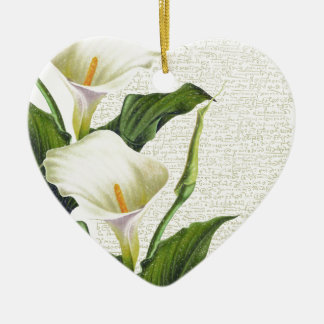 Beautiful Calla Lilies Ceramic Heart Decoration