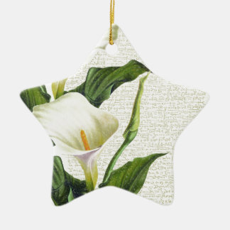 Beautiful Calla Lilies Ceramic Star Decoration