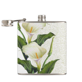 Beautiful Calla Lilies Hip Flask