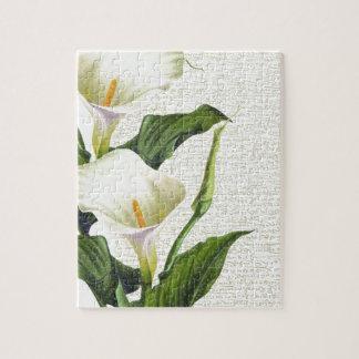 Beautiful Calla Lilies Jigsaw Puzzle