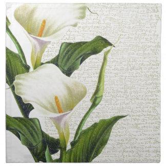 Beautiful Calla Lilies Napkin