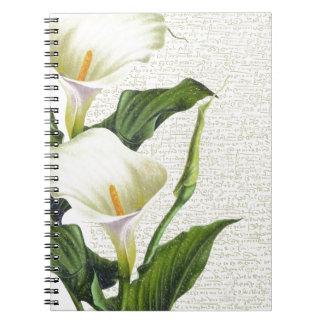 Beautiful Calla Lilies Notebook