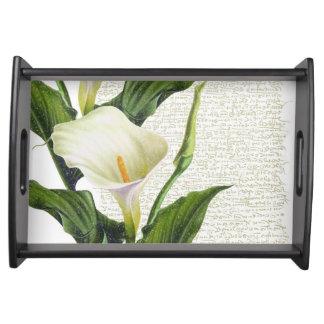 Beautiful Calla Lilies Serving Tray