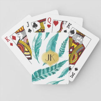 Beautiful Calming Mint Feathers Playing Cards