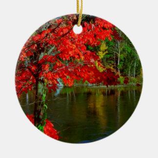 Beautiful Canadian Fall Season :  Greetings, Bless Ornament