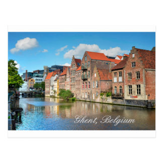 Beautiful Canal and Medieval buildings in Ghent Postcard