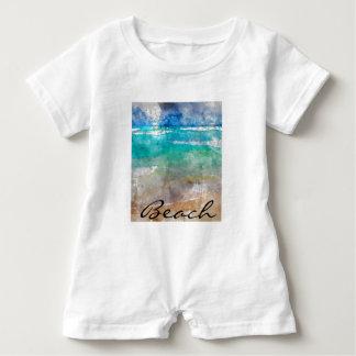 Beautiful Cancun Beach - Digital Watercolor Baby Bodysuit