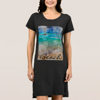 Beautiful Cancun Beach - Digital Watercolor Dress