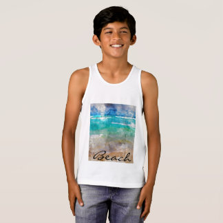 Beautiful Cancun Beach - Digital Watercolor Singlet
