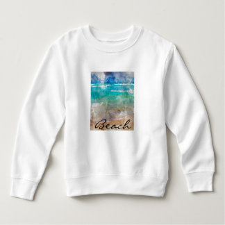 Beautiful Cancun Beach - Digital Watercolor Sweatshirt