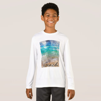 Beautiful Cancun Beach - Digital Watercolor T-Shirt