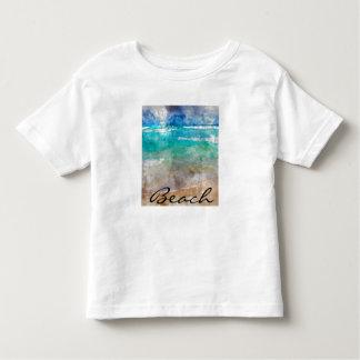 Beautiful Cancun Beach - Digital Watercolor Toddler T-Shirt