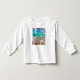 Beautiful Cancun Beach - Digital Watercolor Toddler T-Shirt