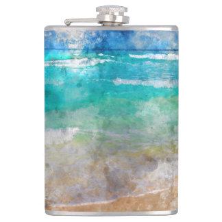 Beautiful Cancun Beach Hip Flask