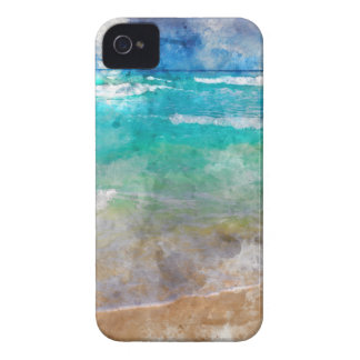 Beautiful Cancun Beach - Watercolor iPhone 4 Case-Mate Cases