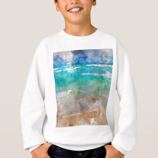 Beautiful Cancun Beach - Watercolor Sweatshirt