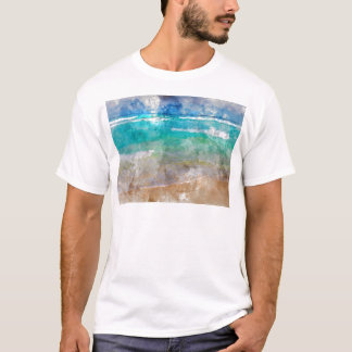 Beautiful Cancun Beach - Watercolor T-Shirt