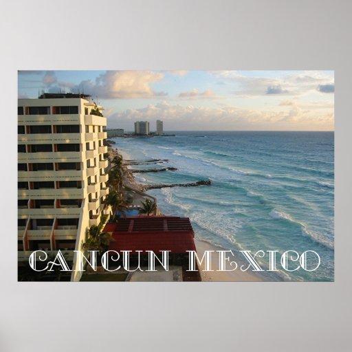 Beautiful Cancun Ocean View Print