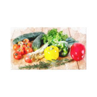 Beautiful Canvas Watercolor Vegetables