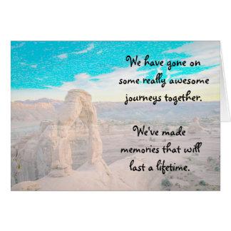 Beautiful Canyon Landscape Memories Friendship Card